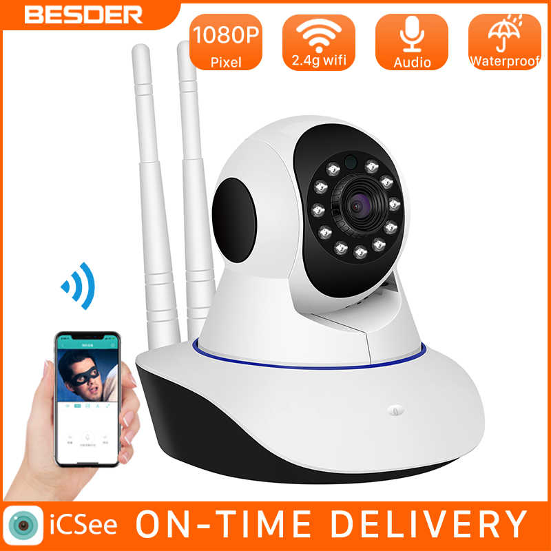 Besder Smart 1080P Wifi Ip Camera Draadloze Indoor 2MP Ip Camera 360 Graden Home Panoramisch Nachtzicht Max 64 gb Icsee App