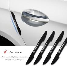4 pçs/set porta do carro protetor tira barra de impacto borda da porta do carro canto adesivos para alfa romeo 159 147 156 giulietta 147 159