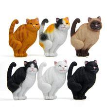 1 шт. Мультяшные Улыбающиеся кошки котенок фигурка холодильник магнит наклейка домашний декор Новинка