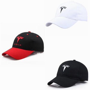 Black/Red/White Sunhat For Tesla Model 3 Model X Model S Model Y Embroidered Cotton Outdoor Topee Baseball Cap Car Accessories(China)