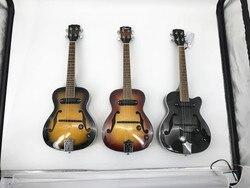 Tenor 26 polegada elétrica f buraco brilho acabamento jazz ukulele com saco de estofamento