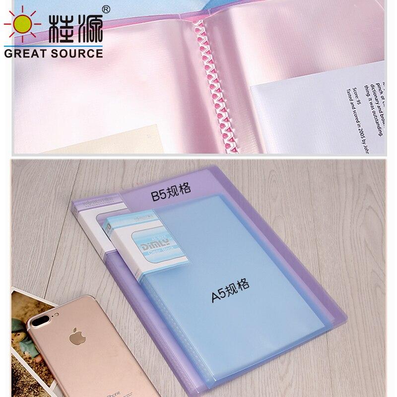 A5 pp apresentação livro 20 bolsos transparentes