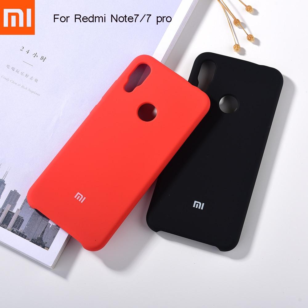 Оригинальный чехол для Xiaomi Redmi Note 7/7 pro из жидкого силикона, гладкий на ощупь мягкий шелковистый защитный чехол для Redmi Note 7 + с логотипом