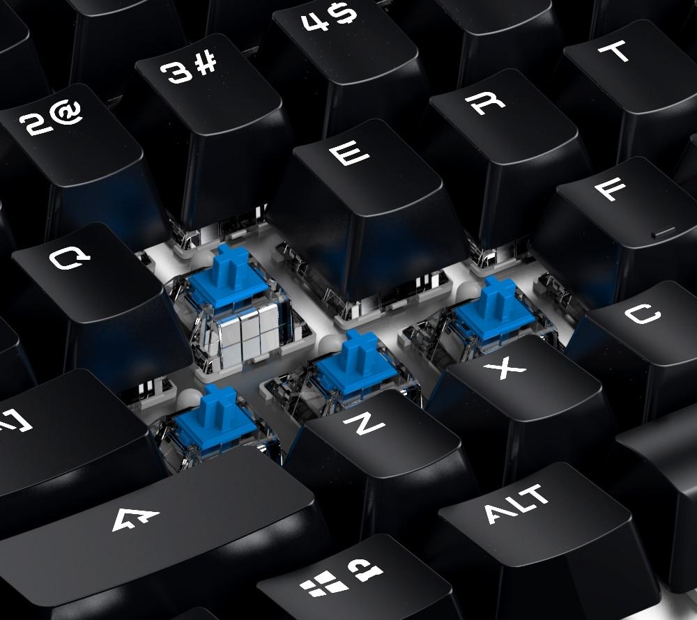Image 3 - Gamesir gk300 cinza teclado mecânico sem fio 104 ttc azul  switches teclado de jogos para pubg fps jogos para  pc/ios/androidGamepads