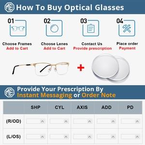 Image 5 - MERRYS DESIGN Men ไทเทเนี่ยมกรอบแว่นตาชายชายสแควร์ Ultralight สายตาสั้นแว่นตาชายครึ่ง S2125