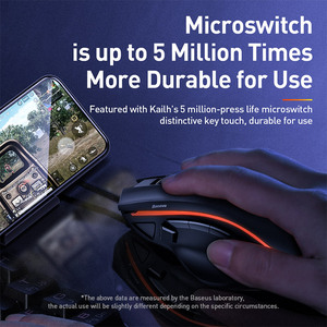 Image 5 - Baseus Game Suit USB Type C Phone Holder Keyboard Mouse Base Control for Android iOS System Wireless 4.0 Game Peripheral Gamepad
