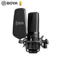 BOYA BY M1000 Condenser Microphone Large Diaphragm 3 Polar Patterns for Singer Songwriter Podcaster Voiceover Artist Studio Mic