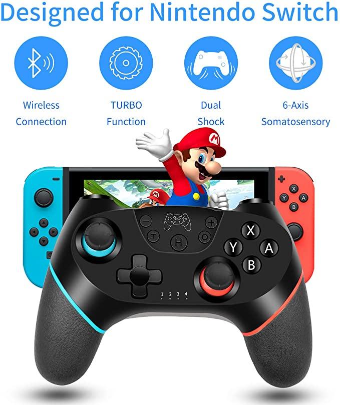 Беспроводной джойстик для NS Switch Pro, пульт дистанционного управления, геймпад RegeMoudal, беспроводной контроллер для Nintendo Switch Game