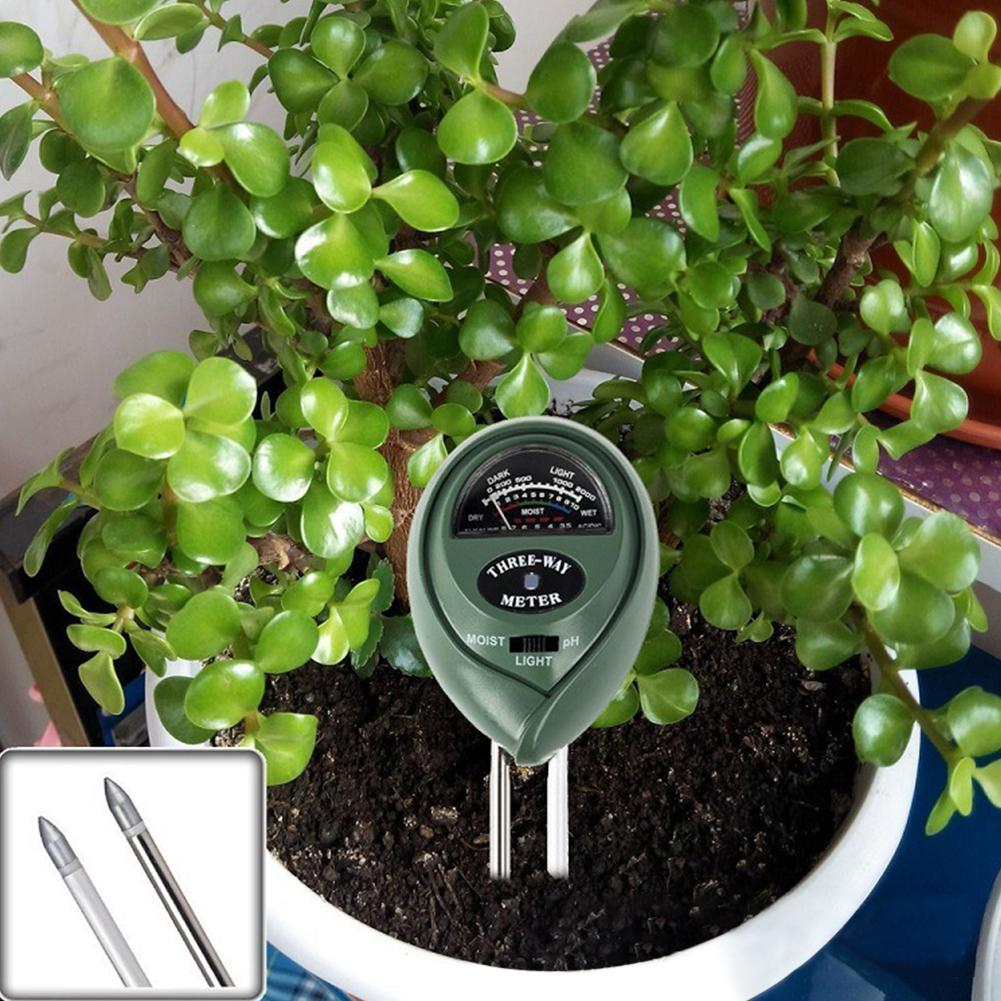 Купить с кэшбэком DishyKooker 3 in 1 Soil Tester Meter for Garden Lawn Plant Pot Moisture Light PH Sensor Tool