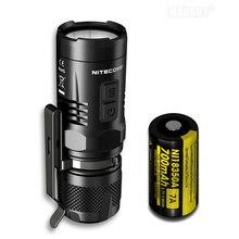 NITECORE batería recargable EC11 + IMR 18350, linterna LED blanca y roja de 900LM, resistente al agua, rescate, búsqueda para exteriores y Camping
