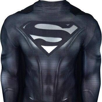 Dark Superman Costume Black Superman Suit Superhero Cosplay Costume Halloween Zentai