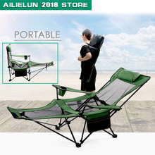 outdoor furniture chair foldable stool folding stool sillas camping foldable chair muebles Folding Camping Chair with Footrest cheap CN(Origin) Fabric Fishing Chair 168*62*35cm Beach Chair ALL-141 Modern 135kg