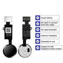 JC 6 Gen לחצן בית Flex כבל עבור iPhone 7 7P 8 8P לוח מקשים תפריט כפתור שיבה הביתה אוניברסלי טביעות אצבע להגמיש כבל תיקון