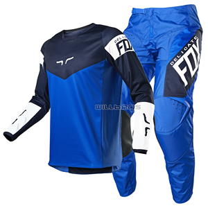 Delicate Fox 2021 MX 180 Revn Gear Set Motocross Racing AVT DH MTB SX Enduro Mountain Bike Cycling Blue Jersey Pants Combo