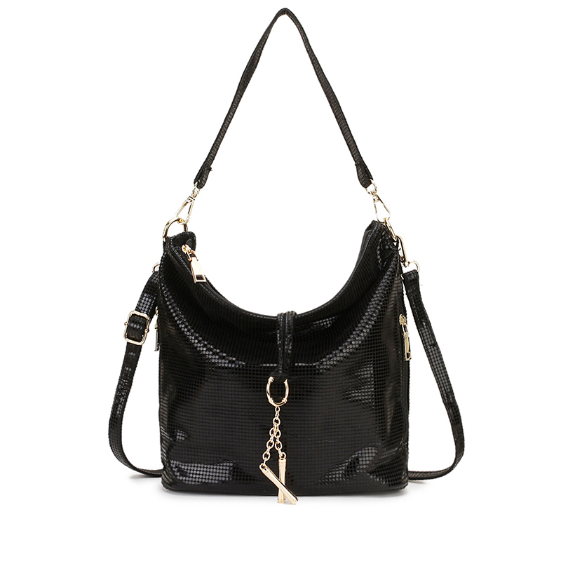 Black Women Leather Handbag Hobo Messenger Bag For Women 2019 Gold Crossbody Shoulder Bag Female Small Ladies Hand Bag Summer