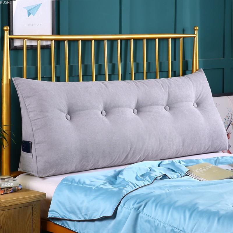 Double chevet Rectangle coussin canapé taille coussin oreiller lit grand dos Tatami doux coussin taille canapé amovible et lavable