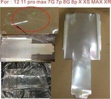 100 개/몫 아이폰 12 프로 117 8P X XS XR 최대 미국 영국 버전에 대 한 새로운 랩 플라스틱 인감 필름 상자 포장 봉투 기계 멤브레인