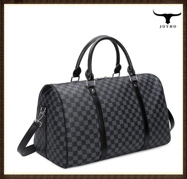 Fashion Travel Bag Men Women Classic PU Leather luggage bag female portable large capacity lightweight travel fitness bag