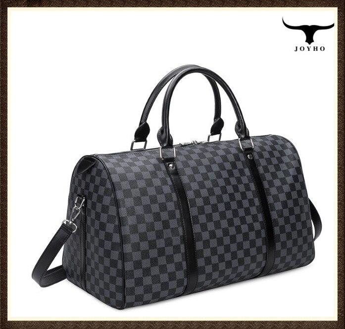 Mode sac de voyage hommes femmes classique en cuir PU sac à bagages femme portable grande capacité léger voyage sac de fitness