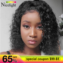 Nicelight Water Wave Bob Wig Short Remy Lace Front Human Hai