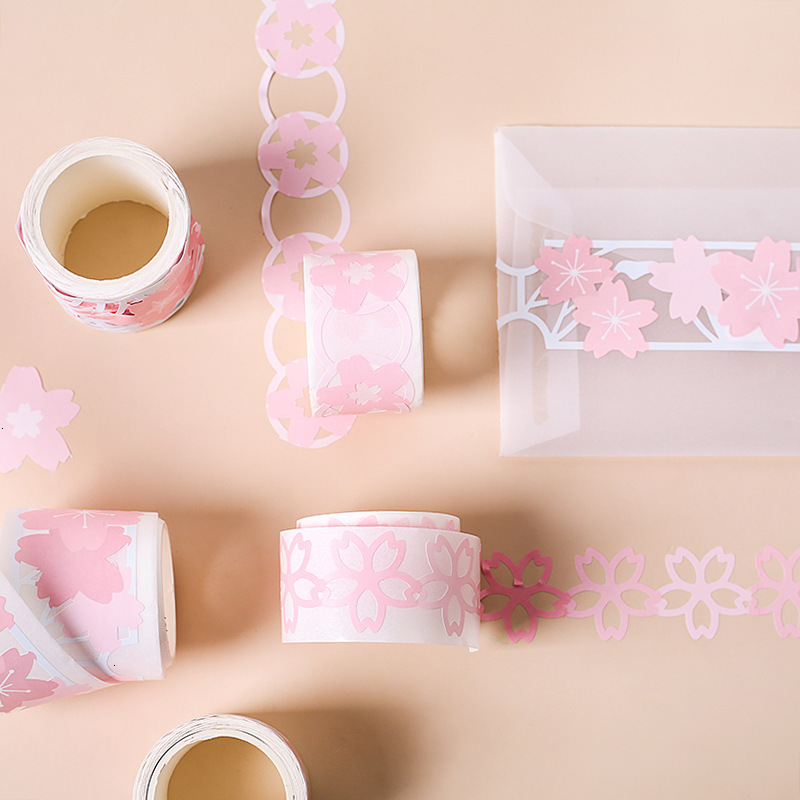 Kawaii Flower DIY Masking Tape Creative Cute Handbook Decoration Diary Adhesive Stationery Paper Washi Tape Supplies 024083