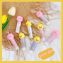 Glue-Stick School Kawaii Office-Stationery Portable Cute Solid 8g Pig Duck-Shape Strong-Adhesive
