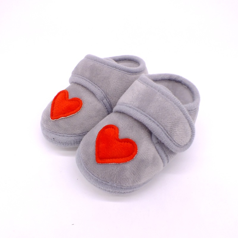 Warmom Newborn Baby Socks Shoes Toddler Love Heart First Walkers Plush Cotton Comfort Soft Anti-slip Warm Infant Crib Shoes | Happy Baby Mama