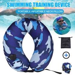 Портативный плавательный тренажер для детей, надувная подушка для шеи для путешествий на самолете ASD88