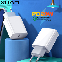 XUAN Quick Charge 4.0 3.0 QC PD Charger 20W QC4.0 QC3.0 USB Type C Fast Charger for iPhone 12 11 Pro X Xs 8 Xiaomi Samsung Gal