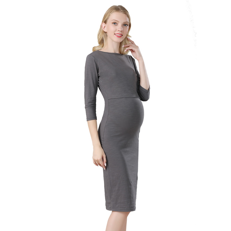 Image 3 - Emotion Moms Party maternity clothes maternity dresses pregnancy clothes for Pregnant Women nursing dress Breastfeeding Dressesclothes wholesaledress with back zipclothes cleaning -