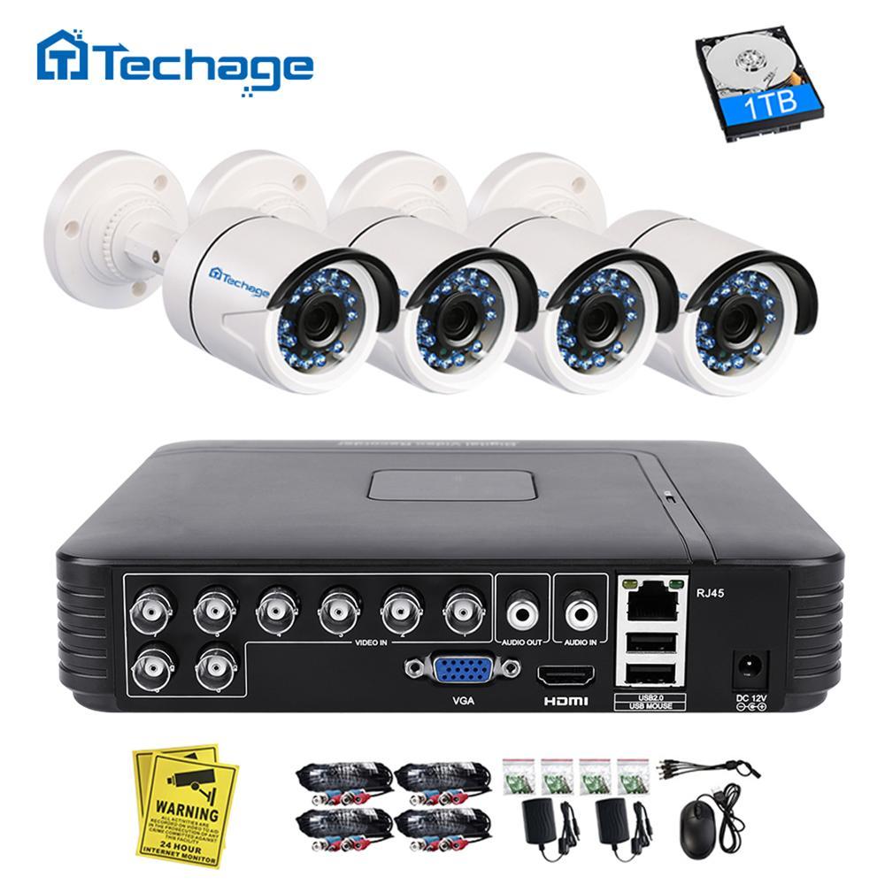 Techage 8CH 1080N AHD DVR Kit 720P CCTV System 1MP IR Nachtsicht Indoor Outdoor Kamera Video Home Security überwachung Set
