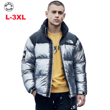 Mens parkas winter  hooded cotton-padded jacket Autumn new fashion down cotton outcoat L to 3XL
