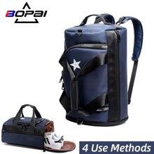 BOPAI Gepäck Tasche Multifunktionale Rucksack Einzelnen Schulter Tasche Handtasche Seesack, Dass Kann Halten Schuhe Reise Outdoor Sport Taschen