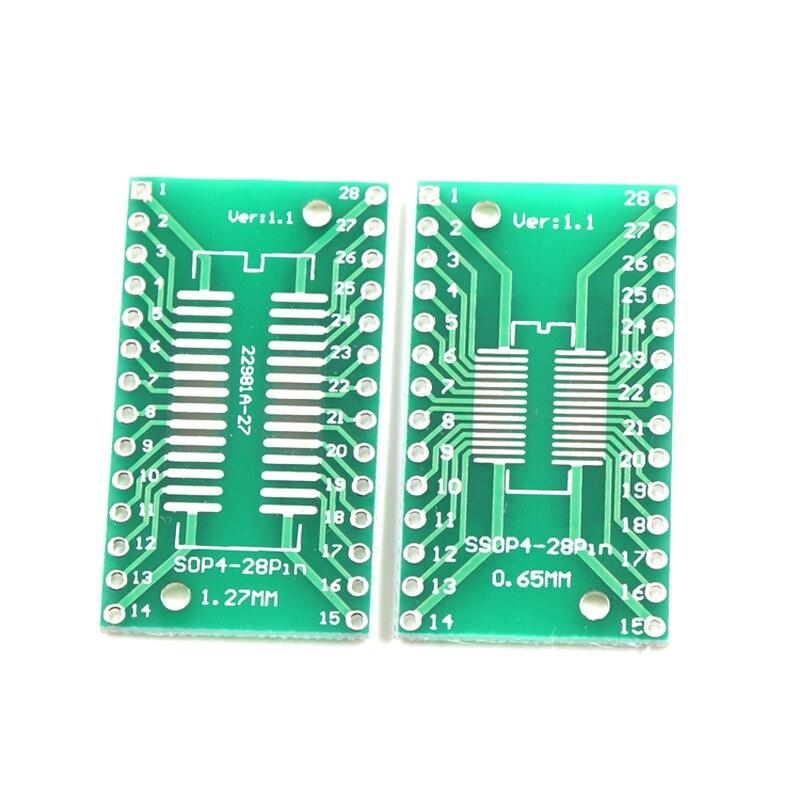 10 шт., плата передачи SOP28 TSSOP28 SSOP28 для DIP28, адаптер DIP-Pin