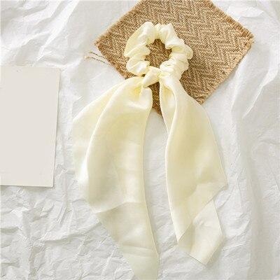 Модный летний шарф «конский хвост», эластичная лента для волос для женщин, бантики для волос, резинки для волос, резинки для волос с цветочным принтом, ленты для волос - Цвет: 00010