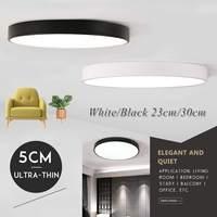Nowy 5CM ultra cienki LED lampa sufitowa nowoczesna lampa oświetlenie do salonu oprawa sypialnia kuchnia montaż powierzchniowy Panel Flush w Oświetlenie sufitowe od Lampy i oświetlenie na