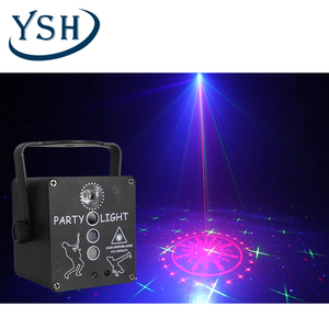 YSH Disco Light Starry Sky DJ LED Laser Projector Voice Control Sound Party Lights Hybrid Flashing for Home Family Decoration