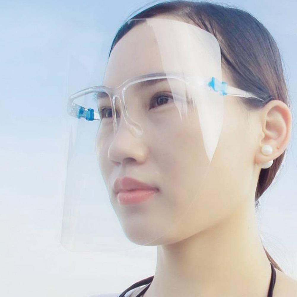 Transparent Visor Cap Plastic Visor Sun Hat Anti Spitting Protective Visors Dustproof Face Cover Visor Caps Face Visor Shield