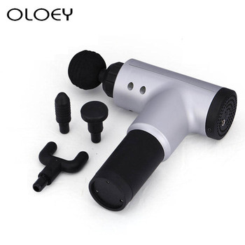 Massage Gun Electric Muscle 3 Gears Fitness Therapy Massager Body Relaxation Pain Relief Slimming Shaping Massager 4 Heads