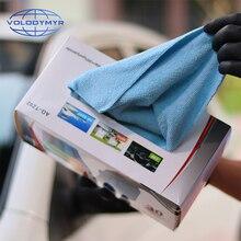 Volodymyr Khăn Microfiber Họa Tiết Vải 30 Chiếc Cho Chi Tiết Xe Tự Động Vệ Sinh Carwash Khăn/Hộp Cao Cấp Thấm Hút Mồ Hôi