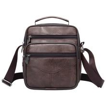 Casual Men Handbag Brief Shoulder Bags Man Solid Leather Messenger Bag