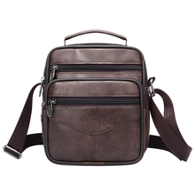 Casual Men Handbag Brief Shoulder Bags Man Solid Leather Mes