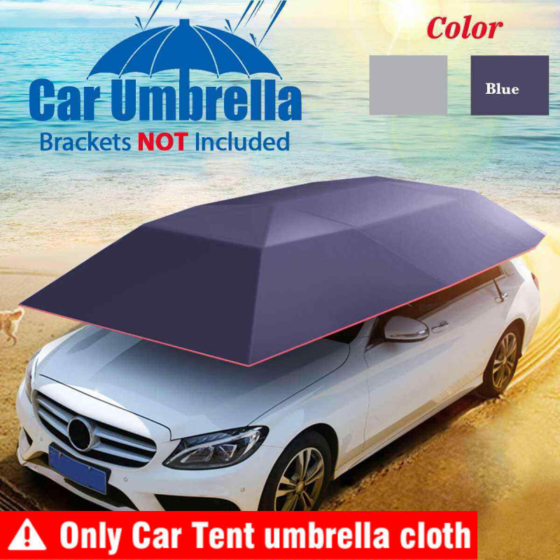 Paraguas plegable impermeable para coche, cubierta tipo parasol, paraguas de protección automática, tela Oxford resistente a UV, accesorios para techo de tienda de coche