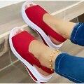 MCCKLE/женские босоножки 2021 модная женская обувь новая обувь без шнуровки; Женская повседневная обувь; Туфли на плоской подошве из парусины ра...