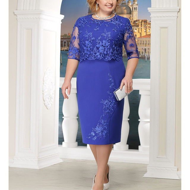 Robe De Mere Elegant Lace Plus Size Mother Of The Bride Dresses Half Sleeve Mother Evening Party Dresses Vestido De Madrinha 2
