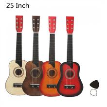 25 Inch Basswood Acoustic Guitar with Free Gig Bag Pick Strings Musical Instruments for Children Kids Beginner