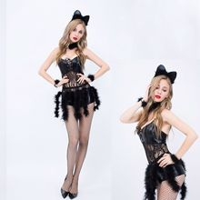 fantasias shop erotic lingerie Bunny Sexy uniform cat girl role play Party Costume Halloween