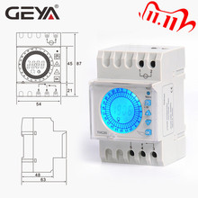 GEYA 24 Hours Programmable Time Control Switch 20A AC220V with Big LED Light Sceen Daylight Saving Timer Electronic THC-20-1C