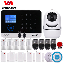 Wireless SIM GSM Home RFID Burglar Security LCD Touch Keyboard WIFI GSM Alarm System Sensor kit English,Russian,Spanish Voice