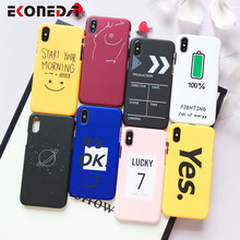 EKONEDA Plastic Case For iPhone 6S 7 8 X XR XS MAX Case Funny Lovely Pattern Coque For iPhone 7 case 6S 7 8 Plus Black Cover funny mustache style protective plastic back case for iphone 5 dark blue white black